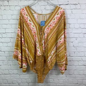 Free People Intimately Free For You Bodysuit Small